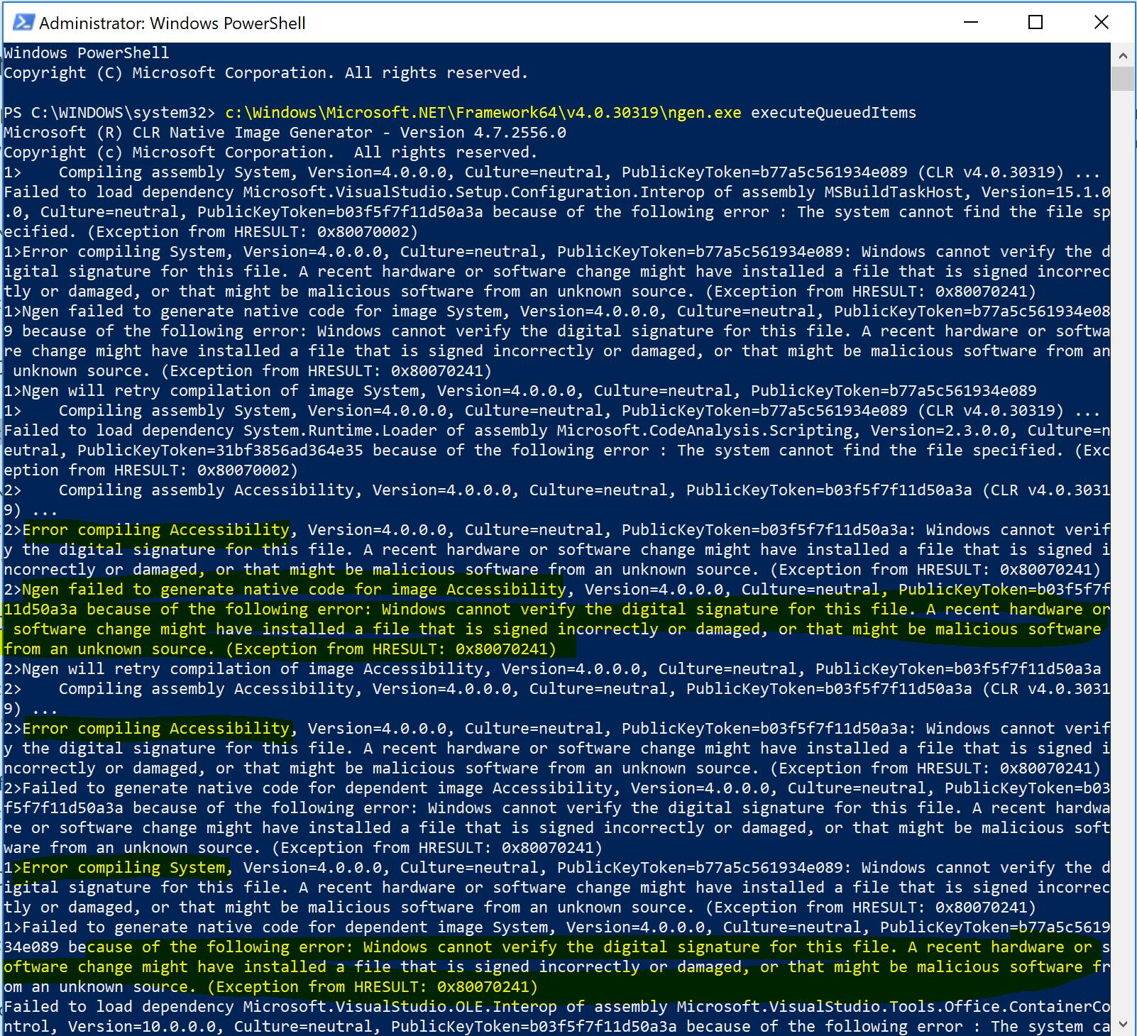 Mscorsvw exe and Ngen exe high CPU usage