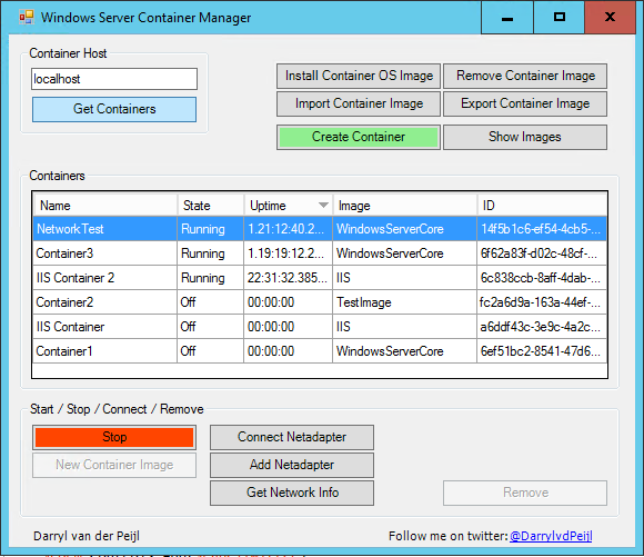 Windows Server Container Manager